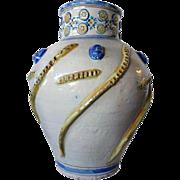 Heavy Large Italian Glazed Pottery Urn