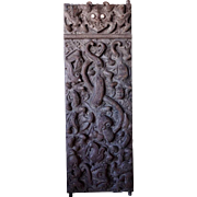 Rare Large Borneo Dayak Chief's Ironwood Single Door