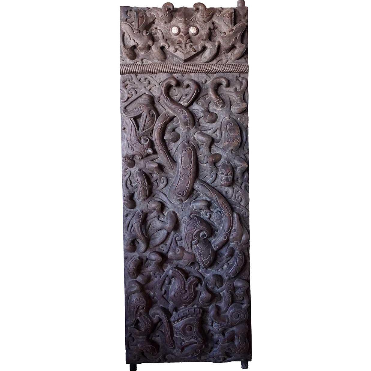Rare Large Borneo Dayak Chief's Ironwood Single Door