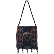 African Senufo Diviner's Beaded Bag with Strap