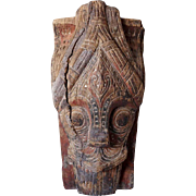 Indonesian Painted and Carved Wood House Guardian Mask