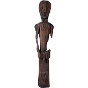 Borneo Dayak Wood Ancestor or Guardian Figure (Hampatong)