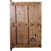 Small African Saharan Wood Granary Door