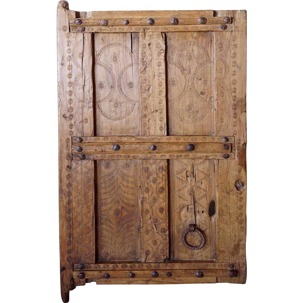 Small African Saharan Wood Granary Door