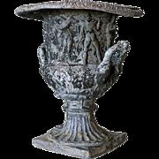 English Victorian Neoclassical Lead Garden Urn