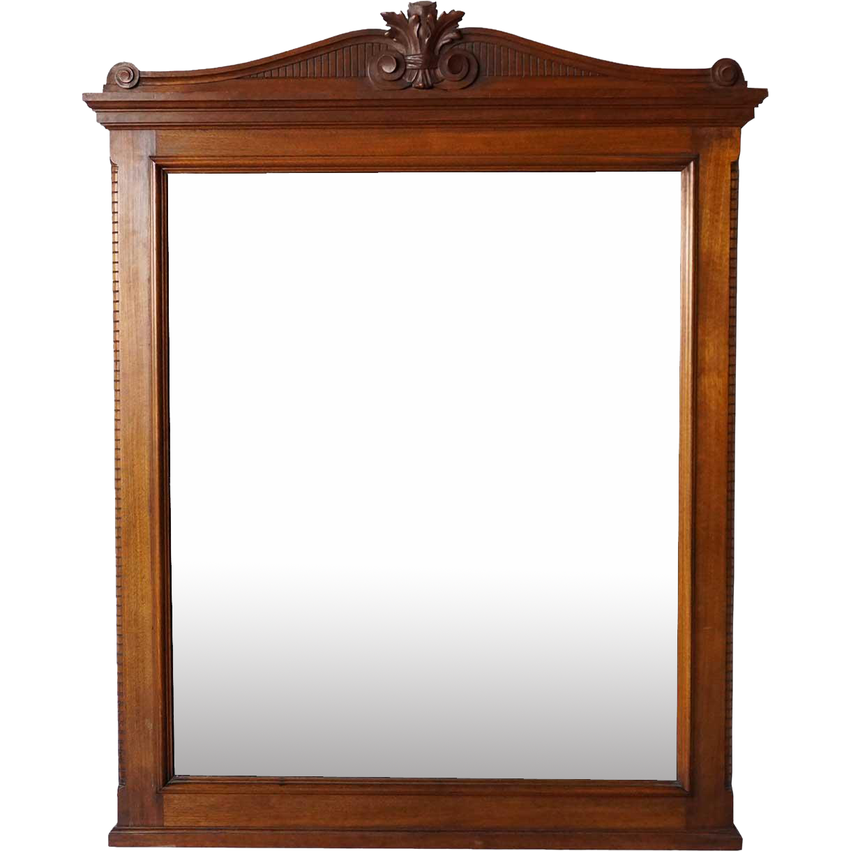 Large American Victorian Walnut Overmantel or Washstand Diamond Dust Mirror