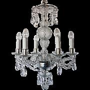 Irish Waterford Crystal 18th Century Style Six-Light Chandelier