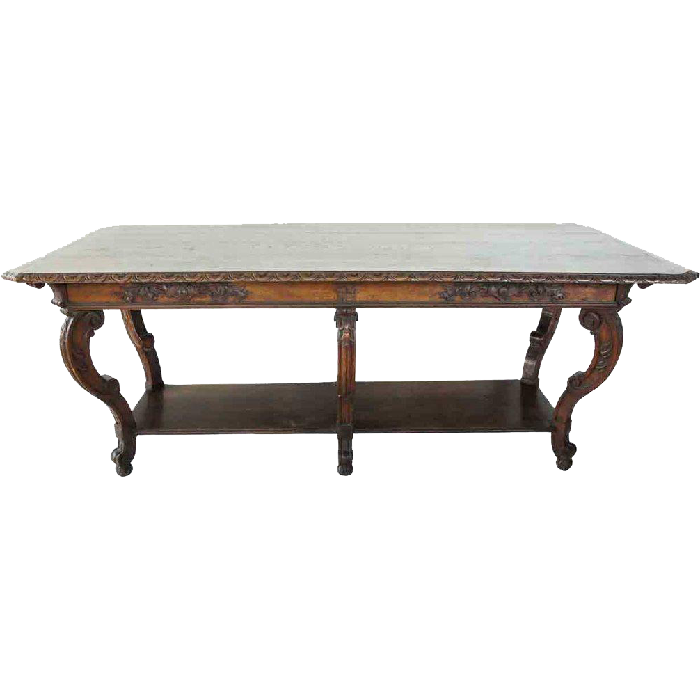 French Provincial Oak Drapery Work Table