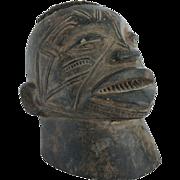 African Makonde Lipico Carved Helmet Mask