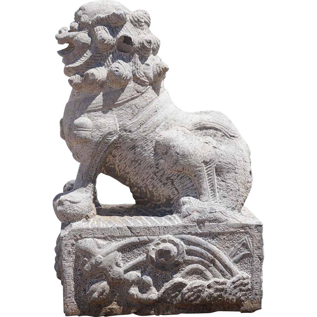Chinese Stone Architectural Foo Dog Bracket