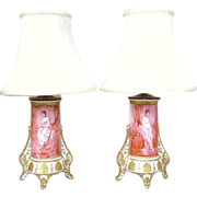 Pair of French Porcelain Vases, now as Table Lamps