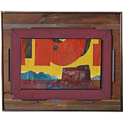 FRANZ Mixed Media Painting on Panel, Collage