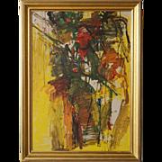 JAN WOLF Oil on Canvas Painting, Berlin Kreuzberg