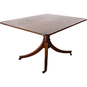 English Mahogany Tilt-Top Pedestal Breakfast Table