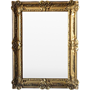 Louis XV Style Gilt Gesso Mirror
