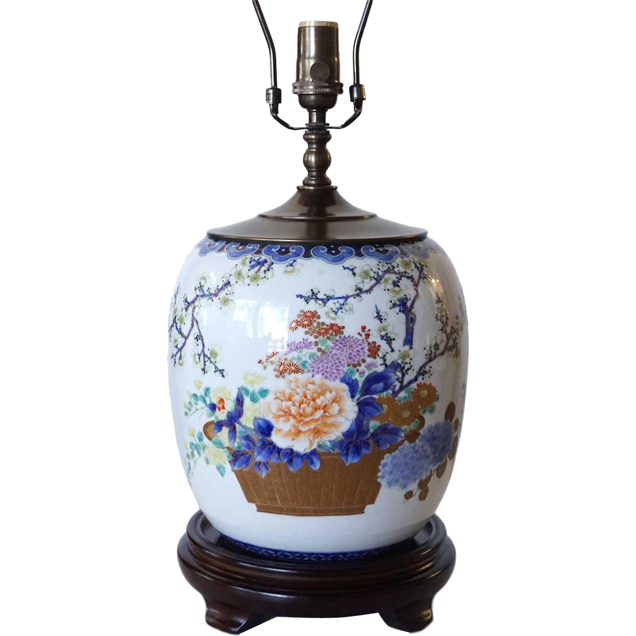 Chinese Late Qing Porcelain Ginger Jar Table Lamp