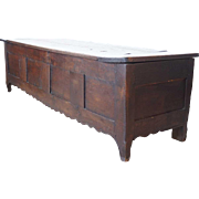 Long French Chestnut Blanket Chest