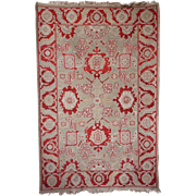 Vintage Red, Pink and Moss Green Rug