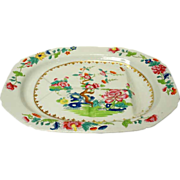Large English Spode Stone-China Willis Pattern Meat Platter