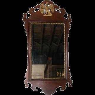 English George III Chippendale Mahogany Mirror