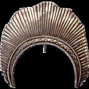 Indo-Portuguese Silver Santos Figure Halo