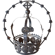 Indo-Portuguese Silver Santos Crown and Halo