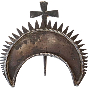 Indo-Portuguese Silver Santos Halo and Cross