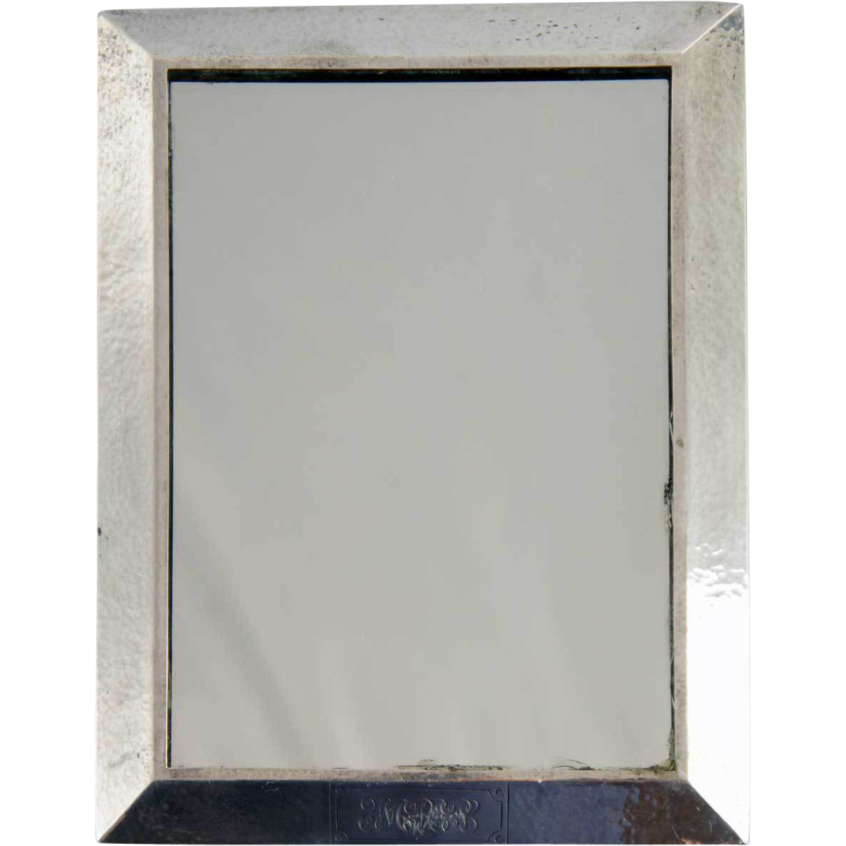 Small American William B. Kerr & Co. Arts and Crafts Sterling Silver Framed Mirror