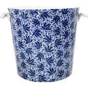 English Victorian Minton Transferware Porcelain Covered Ice Bucket