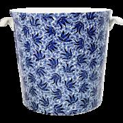 English Victorian Minton Transferware Porcelain Covered Ice Bucket