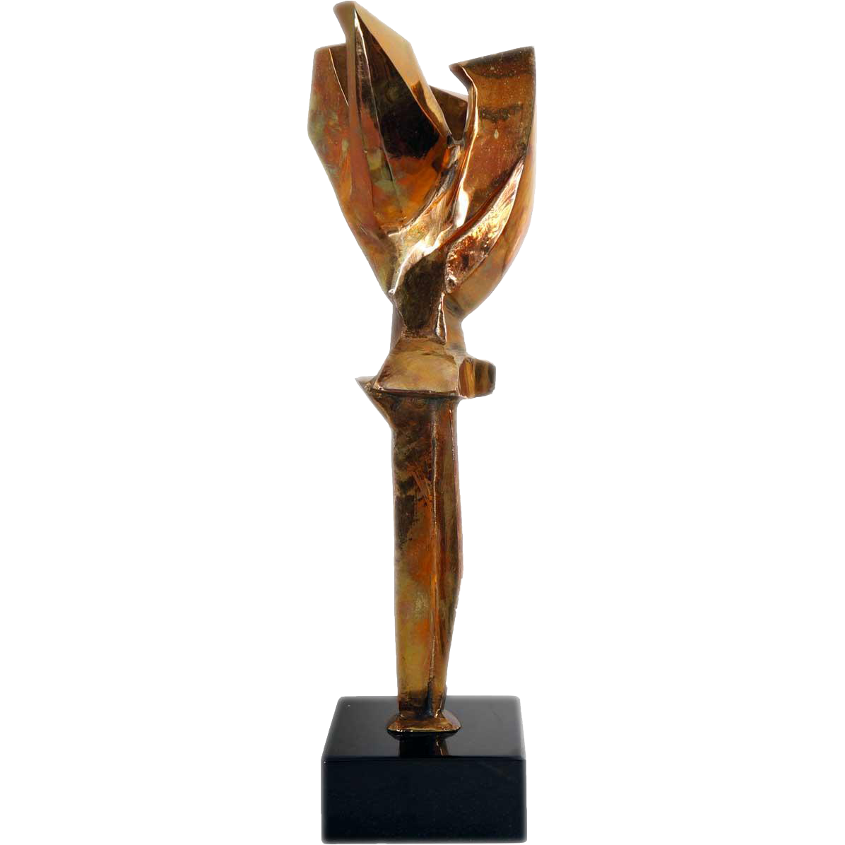EDGAR BRITTON Polished Bronze Maquette Sculpture, Genesis