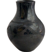 Native American San Ildefonso Blackware Pottery Vase