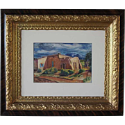 PAUL KAUVAR SMITH Watercolor Painting, Adobe House