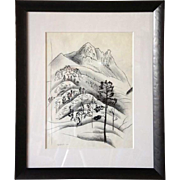 VANCE HALL KIRKLAND Sketch of a Mountain Landscape