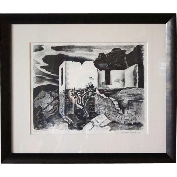 Vance Hall KIRKLAND Lithograph, Ruins, 4/30