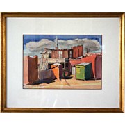 PAUL KAUVAR SMITH Watercolor Painting, Miner's House
