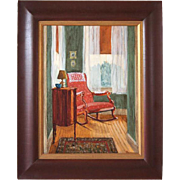 SHARON BOND BROWN Oil Painting, Interior. Grandmothers Parlor