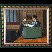 SHARON BOND BROWN Oil Painting, Interior Scene