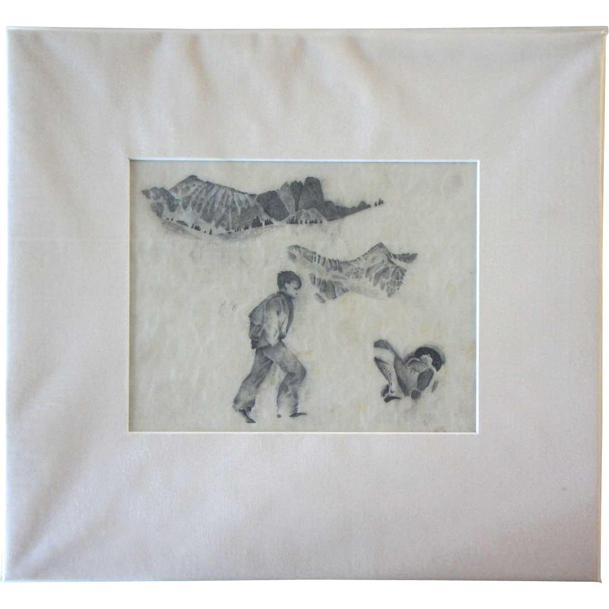 WILLIAM HENRY TRAHER Drawing on Paper, Mountain Climber Studies