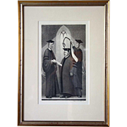 GRANT WOOD Lithograph, Honorary Degree