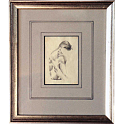William Henry TRAHER Drawing on Paper, Nude Sketch