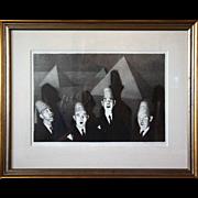 GRANT WOOD Lithograph, Shriner's Quartet