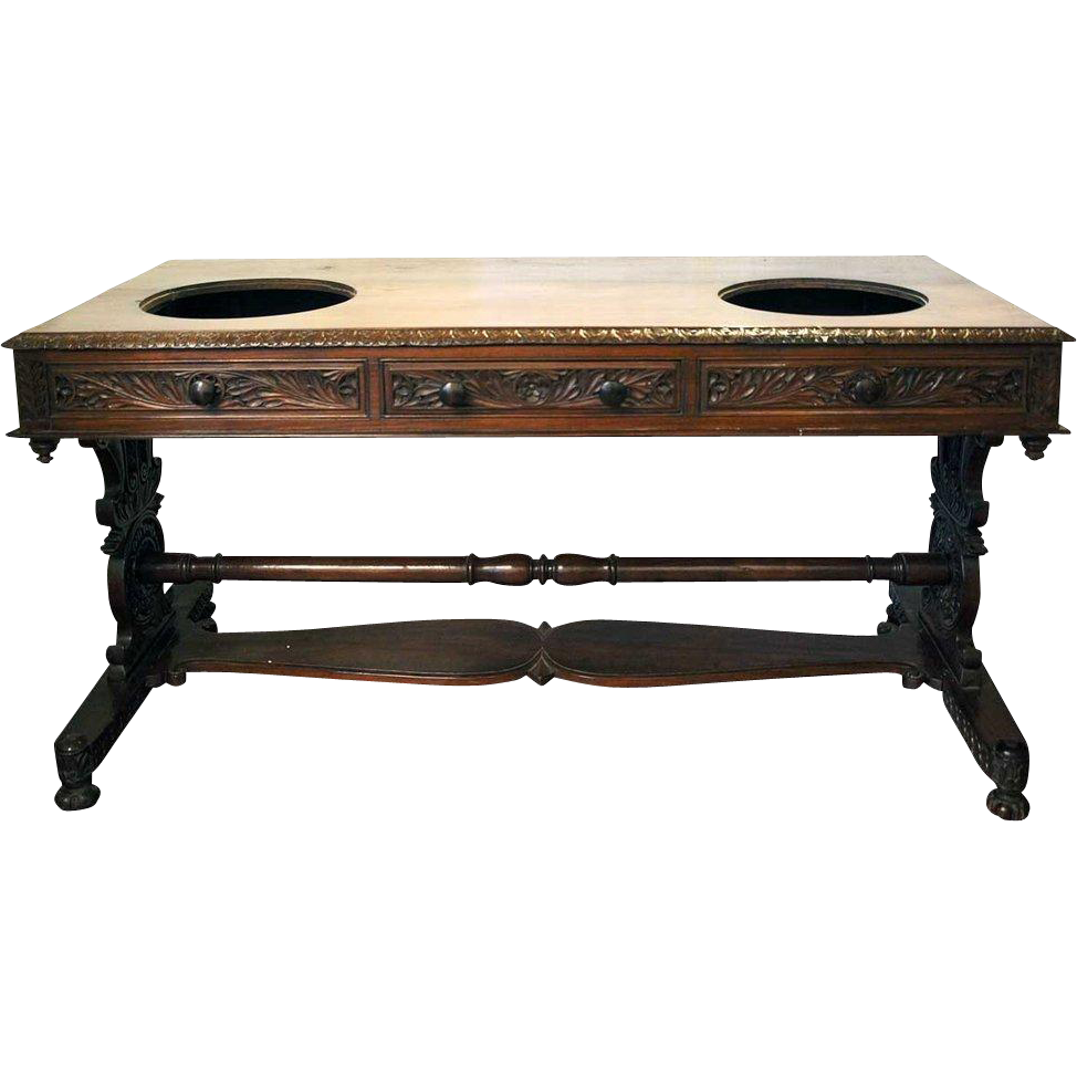 Anglo Indian Regency Rosewood Double Wash Stand