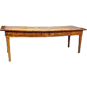 French Provincial Louis XIII-XIV Burled Elm Work Table