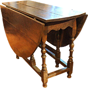 English Country Georgian Oak Gate-Leg Table