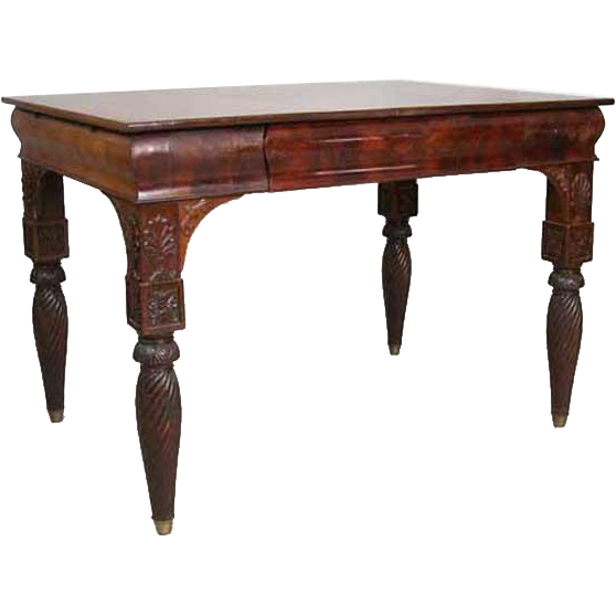 Russian Neoclassical Figured Mahogany Writing Desk
