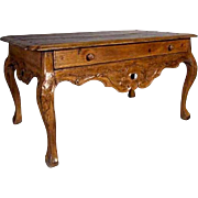 Peruvian Rococo Hardwood Center Table