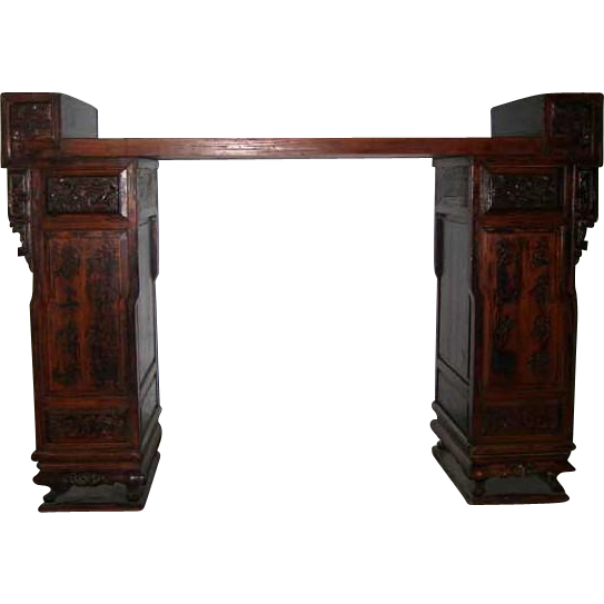 Chinese Pine and Camphorwood Sideboard