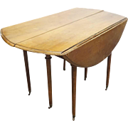 French Provincial Directoire Period Walnut Drop-Leaf Table