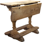 Scandinavian Baroque Oak and Pine Drop-Leaf Side Table